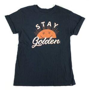"""Women's Hurley """"Stay Golden"""" Graphic Tee Sz S"""